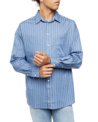 ADNYM Atelier Rhim Shirt Dusty Blue Stripe