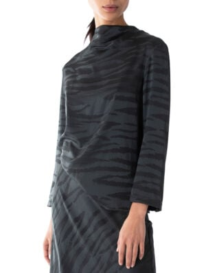 Ahlvar Gallery Evy Tiger Blouse Charcoal