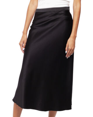 Ahlvar Gallery Hana Satin Skirt Black