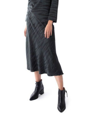Ahlvar Gallery Hana Tiger Skirt Charcoal
