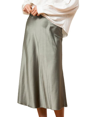 Ahlvar Gallery Hana satin skirt Light Military
