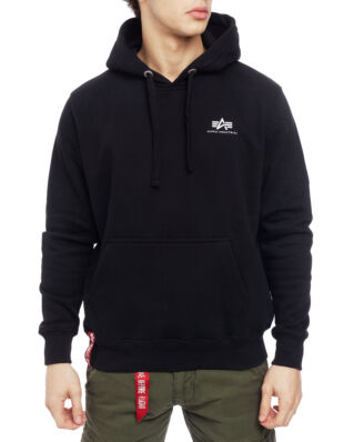 Alpha Industries Basic Hoody Small Logo Black
