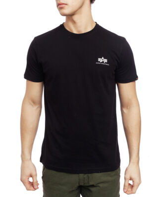 Alpha Industries Basic T Small Logo Black