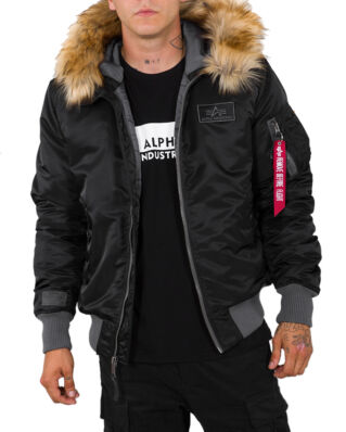 Alpha Industries MA-1 Hooded CW Black