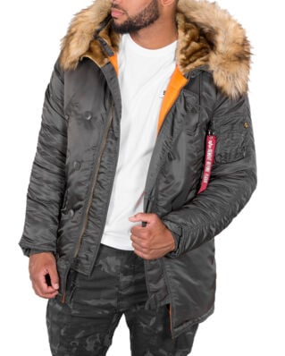 Alpha Industries N-3B VF 59 Greyblack-Import FW19