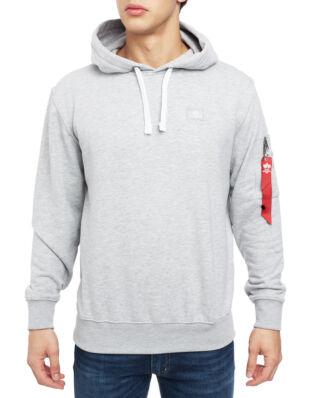 Alpha Industries X-Fit Hoody Grey Heather/White