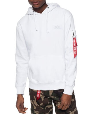 Alpha Industries Back Print Hoody White
