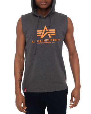 Alpha Industries Basic Hooded Tank Charcoal Heather-Import SS20