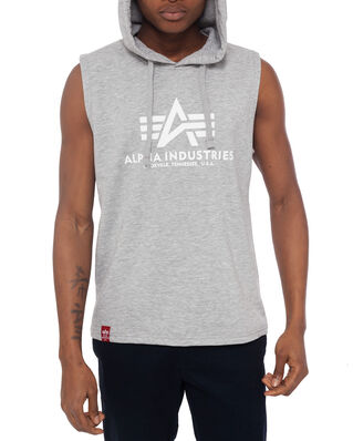 Alpha Industries Basic Hooded Tank Grey Heather
