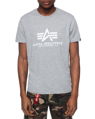 Alpha Industries Basic Tee Grey Heather/White