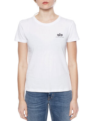 Alpha Industries Basic T Small Logo Wmn White
