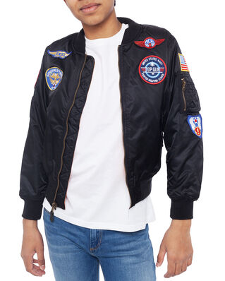 Alpha Industries Junior MA-1 Patch Kids Black