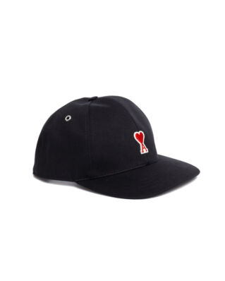AMI A213 Cap With Ami De Coeur Patch Black