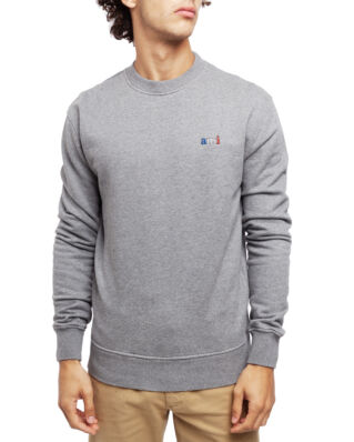 AMI J003 Sweatshirt With Ami Embroidery Heather Grey