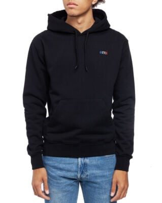 AMI J004 Hoodie With Ami Embroidery Black