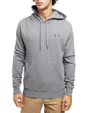AMI J004 Hoodie With Ami Embroidery Heather Grey