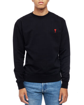 AMI J007 Sweatshirt With Ami De Coeur Patch Black