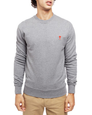 AMI J007 Sweatshirt With Ami De Coeur Patch Heather Grey