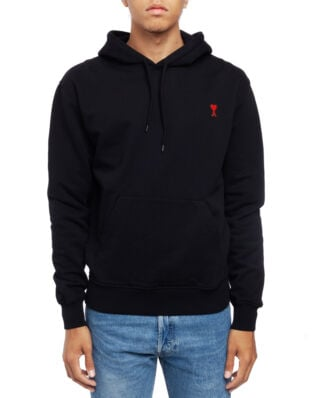 AMI J008 Hoodie With Ami De Coeur Patch Black