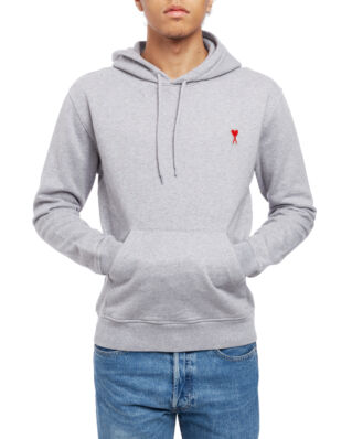 AMI J008 Hoodie With Ami De Coeur Patch Heather Grey