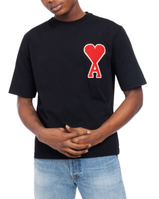 AMI J137 The Big Coeur Patch T-shirt Black