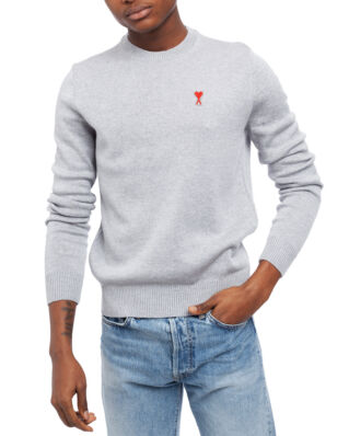 AMI K001 Ami De Coeur Crewneck Sweater Heather Grey