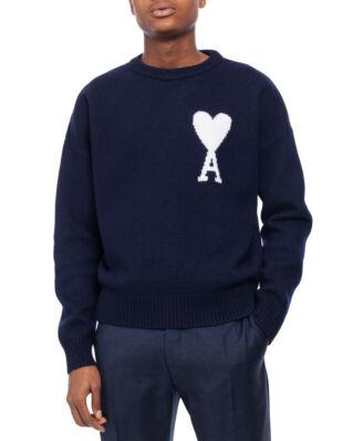 AMI K009 Oversize Ami De Coeur Sweater Navy