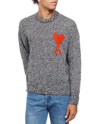 AMI K009 Oversize Mouliné Ami De Coeur Sweater Black/White