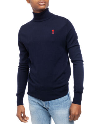 AMI K202 Ami De Coeur Turtleneck Sweater Navy