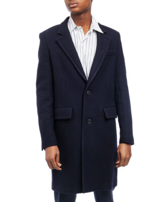 AMI M001 Two Button Coat Navy