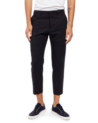AMI T005 Cropped Fit Trousers Black