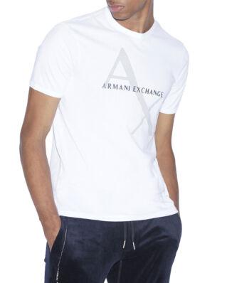 Armani Exchange Classic Diagonal Logo Tee White
