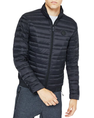 Armani Exchange Classic Down-Fill Puffer Jacket Black/Htr Greybc09