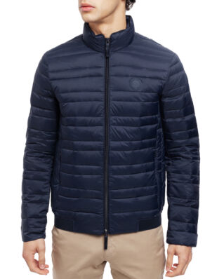 Armani Exchange Classic Down-Fill Puffer Jacket Navy/Melange Grey Bc