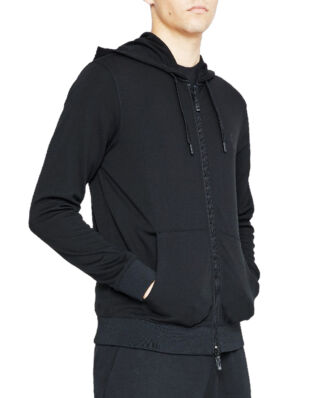 Armani Exchange Zip Hoodie Black