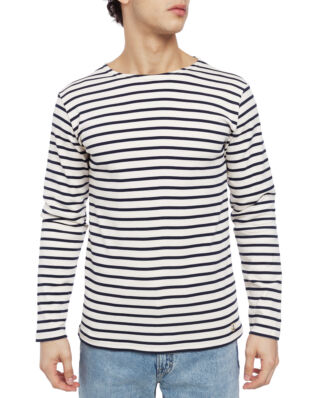 Armor Lux Ls Striped Heritage Breton Shirt Interlock Striped Cream/Navy