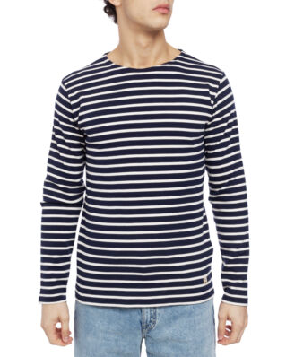 Armor Lux Ls Striped Heritage Breton Shirt Interlock Striped Navy/Cream