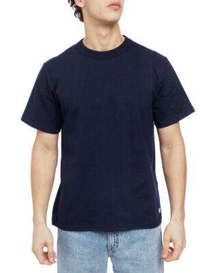 Armor Lux Plain Crew Neck Boxy Ss Tee Shirt Navy