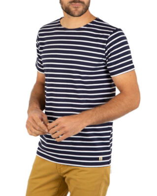 Armor Lux Ss Striped Heritage Breton Shirt Jersey Striped Navy/White