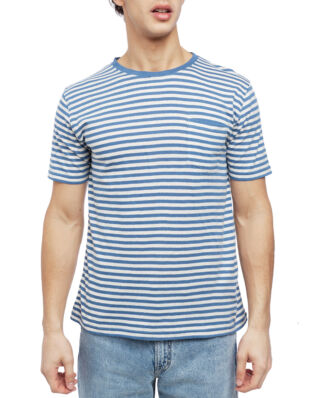 Armor Lux Striped Crew Neck Ss Tee Shirt Striped Blue/Cream