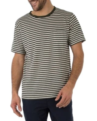 Armor Lux Striped Crew Neck Ss Tee Shirt Striped Navy/Cream