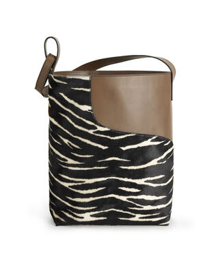 ATP Atelier Pienza Black/Khaki Brown Printed Zebra Pony/Vacchetta Black/Khaki Brown