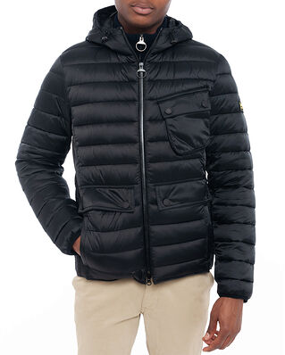 Barbour B.Intl Ouston Hooded Quilt (SL) Black