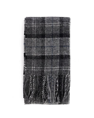 Barbour Tartan Lambswool Scarf Black/Grey Tart