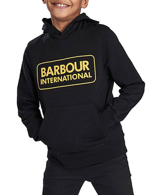 Barbour Junior B.Intl B L Logo Hoodie  Black