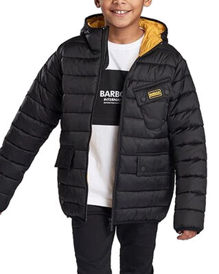 Barbour Junior B.Intl B Ouston Hood Q  Black/Yellow