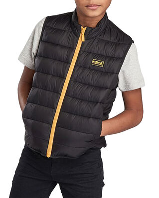 Barbour Junior B.Intl Boys Reed Gilet Black/Yellow