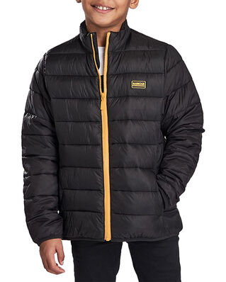 Barbour Junior B.Intl Boys Reed Quilt  Black/Yellow