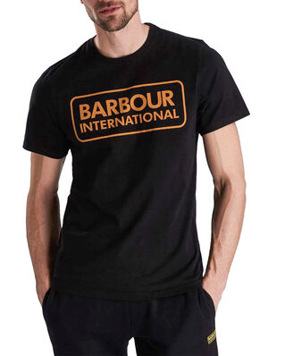 Barbour B.Intl Essential Large Logo Tee  Black