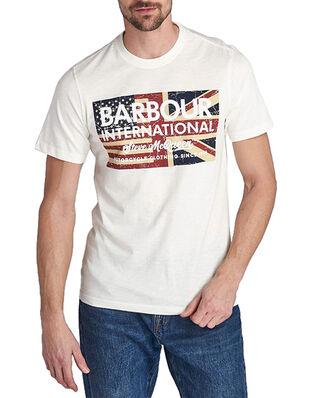 Barbour B.Intl SMQ Vin Flg Tee  Whisper White